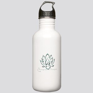 Buddha Lotus Flower Peace quote Water Bottle