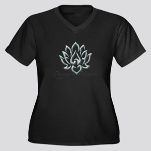 Buddha Lotus Flower Peace quote Plus Size T-Shirt