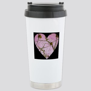 pink camo heart Travel Mug