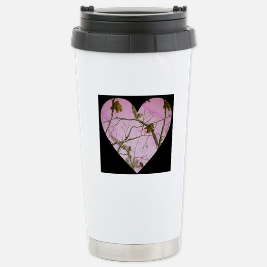 pink camo heart Travel Mug