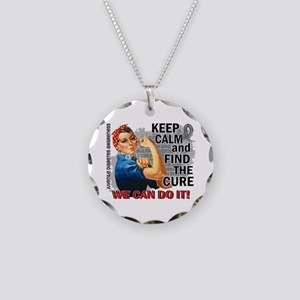 Rosie Keep Calm J Diabetes Necklace Circle Charm