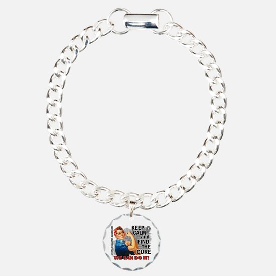 Rosie Keep Calm J Diabetes Bracelet