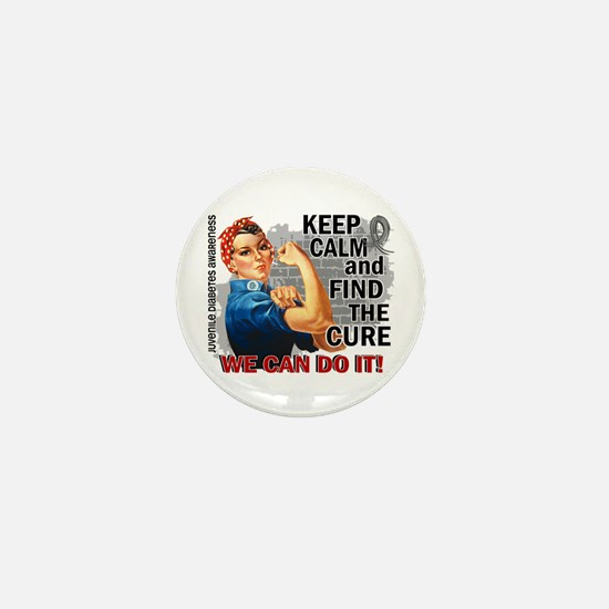 Rosie Keep Calm J Diabetes Mini Button