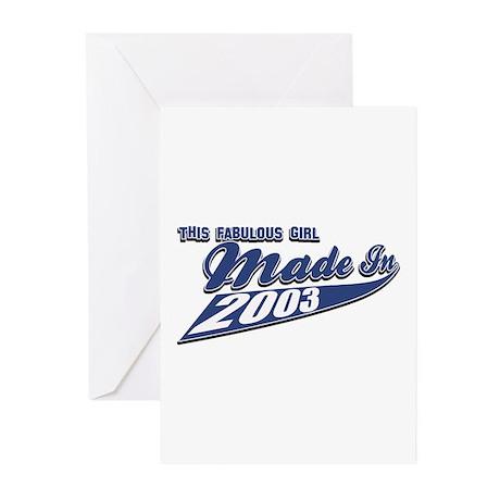 2003 birthday designs Greeting Cards (Pk of 10)