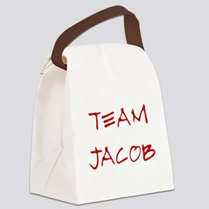 Team Jacob 2 Red Canvas Lunch Bag