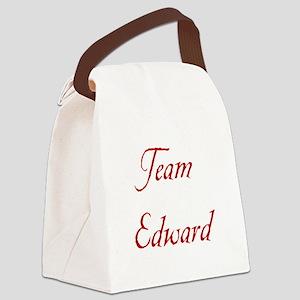 Team Edward Red Canvas Lunch Bag