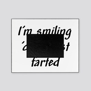 Im smiling because I just farted Picture Frame
