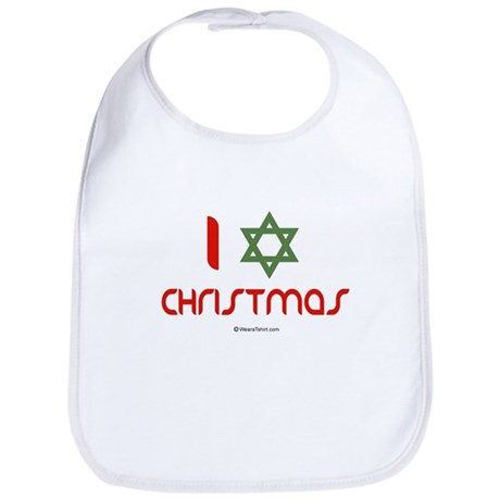 I love Christmas (star of david) Bib