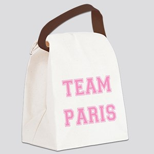 Paris Lt Pink trans Canvas Lunch Bag