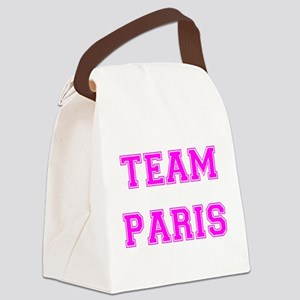 Paris Pink trans Canvas Lunch Bag
