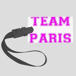 Paris Pink trans Large Luggage Tag