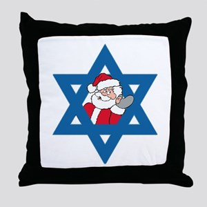 Christm()ukkah Throw Pillow