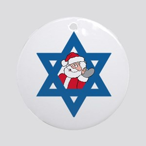Christm()ukkah Ornament (Round)