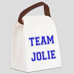 Jolie Blue Canvas Lunch Bag