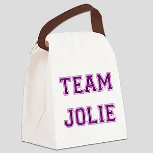 Jolie Purple Canvas Lunch Bag