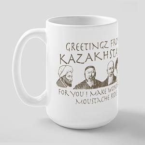 Moustache Ride Kazakhstan Large Mug