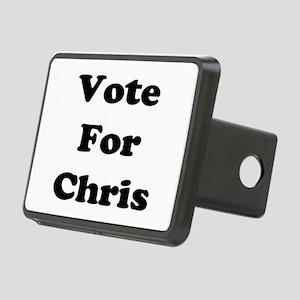 Vote Chris blk Rectangular Hitch Cover