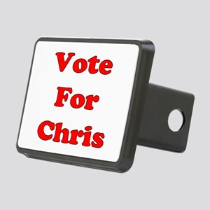 Vote Chris red Rectangular Hitch Cover
