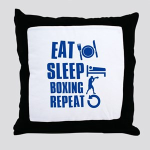 Eat sleep Boxing Throw Pillow