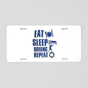 Eat sleep Boxing Aluminum License Plate