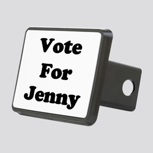 Vote Jenny blk Rectangular Hitch Cover