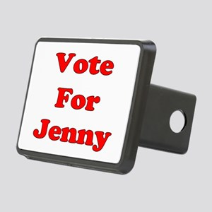 Vote Jenny red Rectangular Hitch Cover