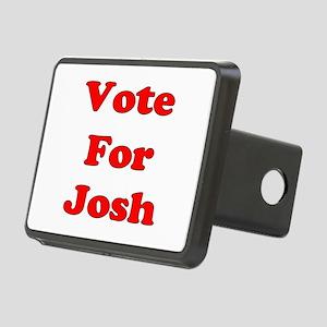 Vote Josh red Rectangular Hitch Cover