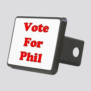 Vote Phil red Rectangular Hitch Cover