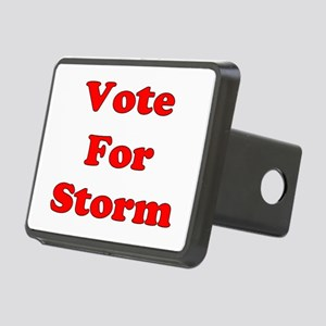 Vote Storm red Rectangular Hitch Cover