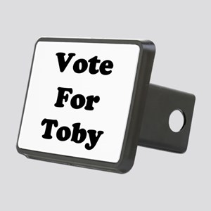 Vote Toby blk Rectangular Hitch Cover