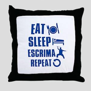 Eat sleep Escrima Throw Pillow