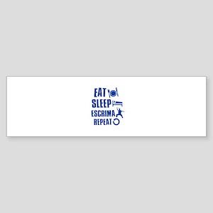 Eat sleep Escrima Sticker (Bumper)
