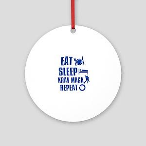 Eat sleep Krav Maga Ornament (Round)