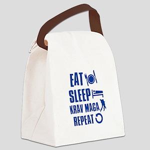 Eat sleep Krav Maga Canvas Lunch Bag