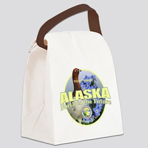 Alaska Bird & Flower Canvas Lunch Bag