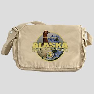 Alaska Bird & Flower Messenger Bag