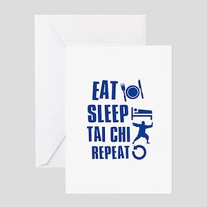 Eat sleep Tai Chi Greeting Card