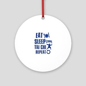 Eat sleep Tai Chi Ornament (Round)