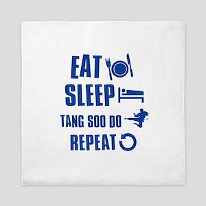Eat sleep Tang Soo Do Queen Duvet