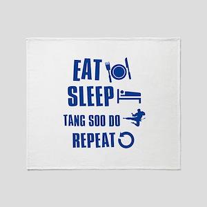 Eat sleep Tang Soo Do Throw Blanket