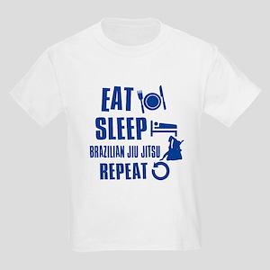 Eat sleep Brazilian Jiu Jitsu Kids Light T-Shirt