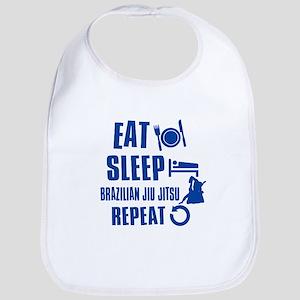 Eat sleep Brazilian Jiu Jitsu Bib