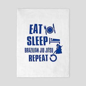 Eat sleep Brazilian Jiu Jitsu Twin Duvet