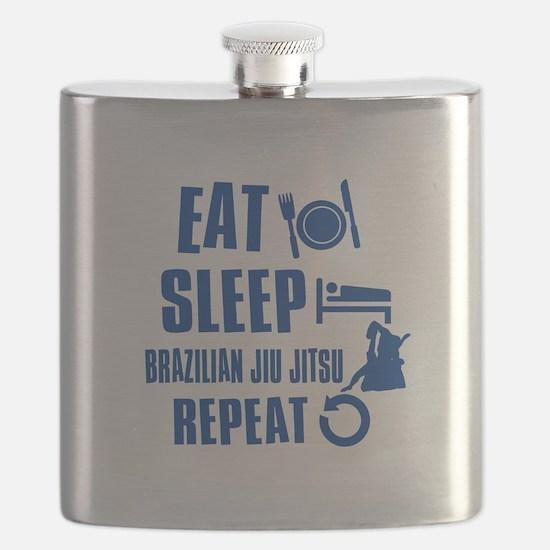 Eat sleep Brazilian Jiu Jitsu Flask