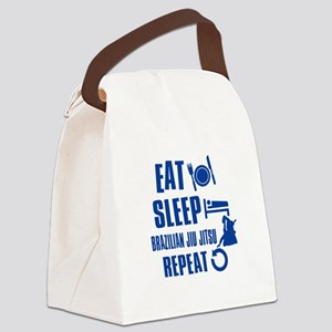 Eat sleep Brazilian Jiu Jitsu Canvas Lunch Bag