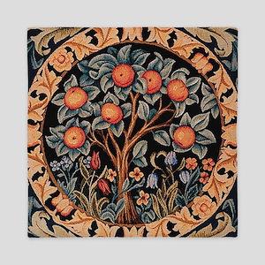 Orange Tree of Life Queen Duvet