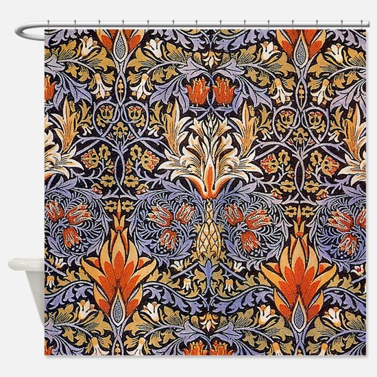 Morris Snakeshead Design Shower Curtain