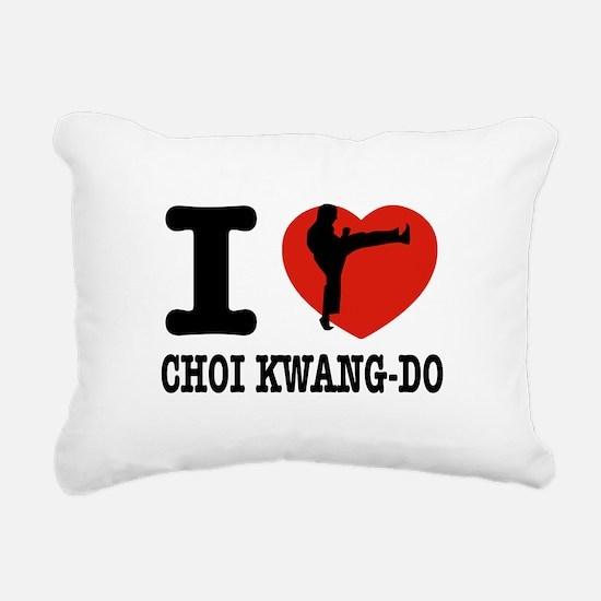 I love Choi Kwang Do Rectangular Canvas Pillow
