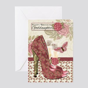Goddaughter Champagne And Shoes Butterfly And Rose