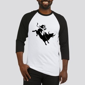 Black Bull Rider Baseball Jersey
